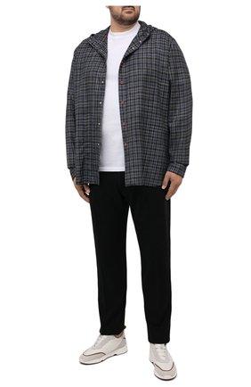 Мужские брюки из хлопка кашемира MARCO PESCAROLO черного цвета, арт. CHIAIAM/ZIP+SFILA/4407 | Фото 2 (Длина (брюки, джинсы): Стандартные; Материал внешний: Хлопок; Случай: Повседневный; Стили: Кэжуэл; Big sizes: Big Sizes)