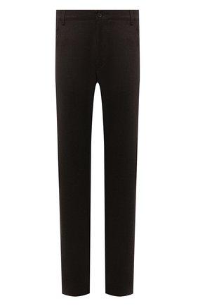 Мужские шерстяные брюки CANALI коричневого цвета, арт. V1551/AR03472/60-64   Фото 1 (Материал внешний: Шерсть; Длина (брюки, джинсы): Стандартные; Случай: Повседневный; Стили: Кэжуэл; Big sizes: Big Sizes)