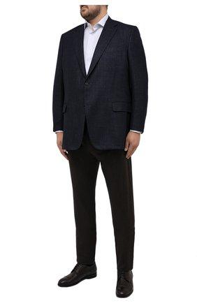 Мужские шерстяные брюки CANALI коричневого цвета, арт. V1551/AR03472/60-64   Фото 2 (Материал внешний: Шерсть; Длина (брюки, джинсы): Стандартные; Случай: Повседневный; Стили: Кэжуэл; Big sizes: Big Sizes)