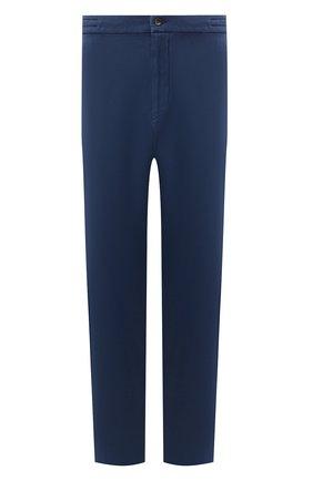 Мужские брюки из хлопка кашемира MARCO PESCAROLO синего цвета, арт. CHIAIAM/ZIP+SFILA/4407 | Фото 1 (Материал внешний: Хлопок; Случай: Повседневный; Стили: Кэжуэл; Big sizes: Big Sizes; Длина (брюки, джинсы): Стандартные)