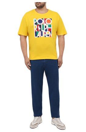 Мужские брюки из хлопка кашемира MARCO PESCAROLO синего цвета, арт. CHIAIAM/ZIP+SFILA/4407 | Фото 2 (Материал внешний: Хлопок; Случай: Повседневный; Стили: Кэжуэл; Big sizes: Big Sizes; Длина (брюки, джинсы): Стандартные)