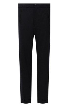 Мужские шерстяные брюки MARCO PESCAROLO темно-синего цвета, арт. CHIAIAM/ZIP+RIS/4422 | Фото 1 (Материал внешний: Шерсть; Длина (брюки, джинсы): Стандартные; Случай: Повседневный; Стили: Кэжуэл; Big sizes: Big Sizes)