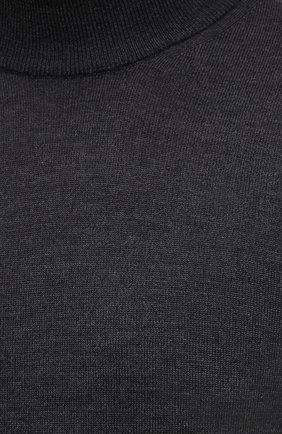 Мужской шерстяная водолазка CORNELIANI темно-серого цвета, арт. 88M503-1825100/00 | Фото 5 (Материал внешний: Шерсть; Рукава: Длинные; Принт: Без принта; Длина (для топов): Стандартные; Мужское Кросс-КТ: Водолазка-одежда; Стили: Кэжуэл)