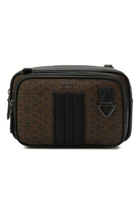 Мужская сумка mhadd BALLY коричневого цвета, арт. MHADD.STM/01 | Фото 1 (Ремень/цепочка: На ремешке; Материал: Экокожа)