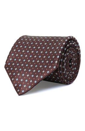 Мужской комплект из галстука и платка BRIONI бордового цвета, арт. 08A900/01452   Фото 1 (Материал: Шелк, Текстиль)