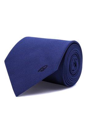 Мужской шелковый галстук BRIONI синего цвета, арт. 062H00/0943C | Фото 1 (Материал: Шелк, Текстиль; Принт: Без принта)