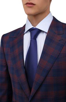 Мужской шелковый галстук BRIONI синего цвета, арт. 062H00/0943C | Фото 2 (Материал: Шелк, Текстиль; Принт: Без принта)