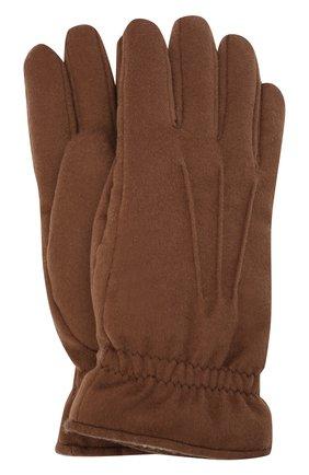 Мужские кашемировые перчатки LORO PIANA коричневого цвета, арт. FAL3287 | Фото 1 (Материал: Шерсть, Кашемир; Кросс-КТ: Трикотаж)