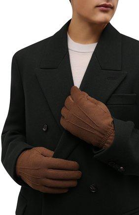 Мужские кашемировые перчатки LORO PIANA коричневого цвета, арт. FAL3287 | Фото 2 (Материал: Шерсть, Кашемир; Кросс-КТ: Трикотаж)