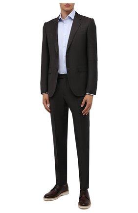 Мужские кожаные дерби BRUNELLO CUCINELLI бордового цвета, арт. MZUF00P827 | Фото 2 (Материал внутренний: Натуральная кожа; Стили: Классический)