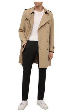Мужские брюки-карго из шерсти и хлопка BERWICH темно-коричневого цвета, арт. SUB/CM1128X | Фото 2 (Материал подклада: Купро; Длина (брюки, джинсы): Стандартные; Материал внешний: Шерсть; Случай: Повседневный; Силуэт М (брюки): Карго; Стили: Кэжуэл)