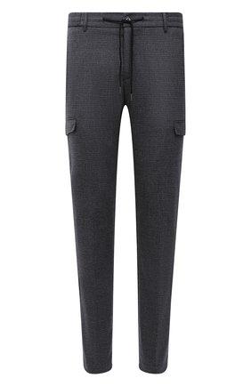 Мужские брюки-карго из шерсти и хлопка BERWICH серого цвета, арт. SUB/CM1128X | Фото 1 (Материал подклада: Купро; Материал внешний: Шерсть; Длина (брюки, джинсы): Стандартные; Случай: Повседневный; Силуэт М (брюки): Карго; Стили: Кэжуэл)
