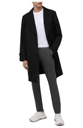 Мужские брюки-карго из шерсти и хлопка BERWICH серого цвета, арт. SUB/CM1128X | Фото 2 (Материал подклада: Купро; Материал внешний: Шерсть; Длина (брюки, джинсы): Стандартные; Случай: Повседневный; Силуэт М (брюки): Карго; Стили: Кэжуэл)