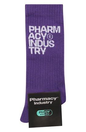 Мужские хлопковые носки PHARMACY INDUSTRY фиолетового цвета, арт. PHAMC66   Фото 1 (Материал внешний: Хлопок; Кросс-КТ: бельё)