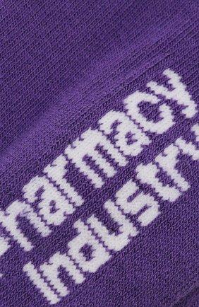 Мужские хлопковые носки PHARMACY INDUSTRY фиолетового цвета, арт. PHAMC66   Фото 2 (Материал внешний: Хлопок; Кросс-КТ: бельё)
