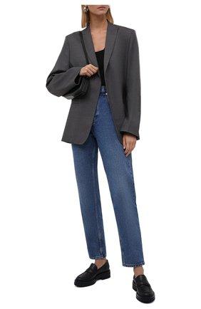 Женские кожаные лоферы GIANVITO ROSSI синего цвета, арт. G25159.20G0M.CLNDENI   Фото 2 (Каблук высота: Низкий; Подошва: Платформа; Материал внутренний: Натуральная кожа)