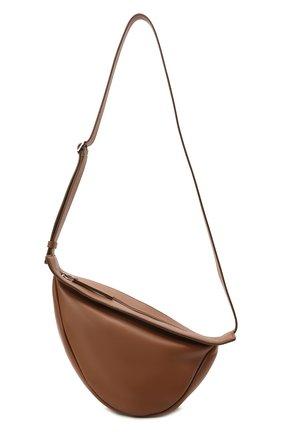 Женская сумка banana THE ROW темно-бежевого цвета, арт. W1197L52 | Фото 1 (Материал: Натуральная кожа; Сумки-технические: Сумки через плечо; Размер: medium; Ремень/цепочка: На ремешке)