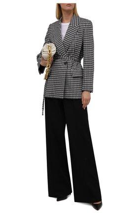 Женский жакет из шерсти и хлопка BRUNELLO CUCINELLI черно-белого цвета, арт. MD5072265 | Фото 2 (Рукава: Длинные; Материал внешний: Хлопок, Шерсть; Длина (для топов): Удлиненные; Материал подклада: Синтетический материал; Женское Кросс-КТ: Жакет-одежда; Случай: Повседневный; 1-2-бортные: Однобортные; Стили: Кэжуэл)