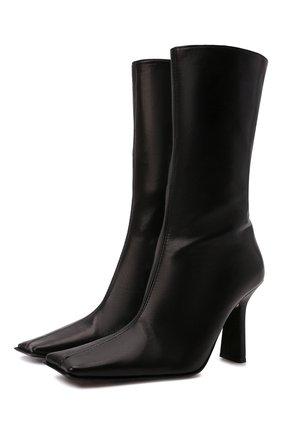 Женские кожаные ботильоны noor MIISTA черного цвета, арт. MI_2787 | Фото 1 (Материал внутренний: Натуральная кожа; Подошва: Плоская; Каблук высота: Высокий; Каблук тип: Устойчивый)