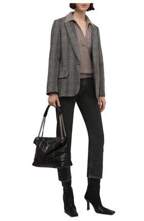 Женские кожаные ботильоны noor MIISTA черного цвета, арт. MI_2787 | Фото 2 (Материал внутренний: Натуральная кожа; Подошва: Плоская; Каблук высота: Высокий; Каблук тип: Устойчивый)