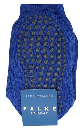 Детские носки из хлопка и шерсти FALKE синего цвета, арт. 10500. | Фото 1 (Материал: Хлопок, Текстиль)