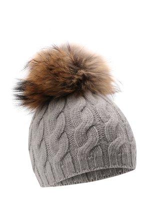 Шерстяная шапка с мехом | Фото №1