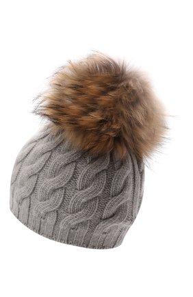 Шерстяная шапка с мехом | Фото №2