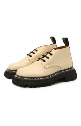 Детские кожаные ботинки GALLUCCI бежевого цвета, арт. J20238AM/SC P V G0M | Фото 1 (Материал внутренний: Натуральная кожа)