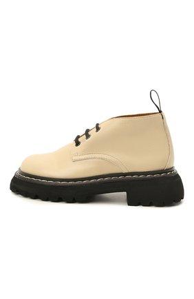Детские кожаные ботинки GALLUCCI бежевого цвета, арт. J20238AM/SC P V G0M | Фото 2 (Материал внутренний: Натуральная кожа)