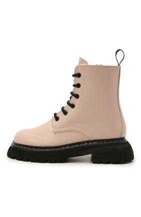 Детские кожаные ботинки GALLUCCI светло-розового цвета, арт. J30124BM/TR S S G0M | Фото 2 (Материал утеплителя: Натуральный мех)