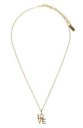 Женская кулон на цепочке SAINT LAURENT золотого цвета, арт. 669087/Y1500 | Фото 1 (Материал: Металл)
