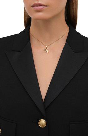 Женская кулон на цепочке SAINT LAURENT золотого цвета, арт. 669087/Y1500 | Фото 2 (Материал: Металл)