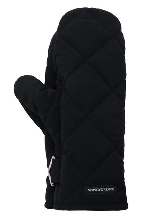 Женские стеганые варежки DOLCE & GABBANA черного цвета, арт. FG057A/FUS0D | Фото 1 (Материал: Синтетический материал, Текстиль; Женское Кросс-КТ: варежки)