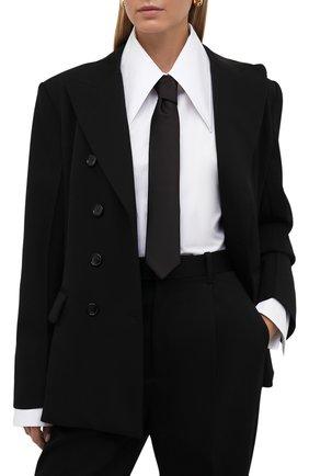 Женский шелковый галстук DOLCE & GABBANA черного цвета, арт. FT031R/G0U05 | Фото 2 (Материал: Текстиль, Шелк)