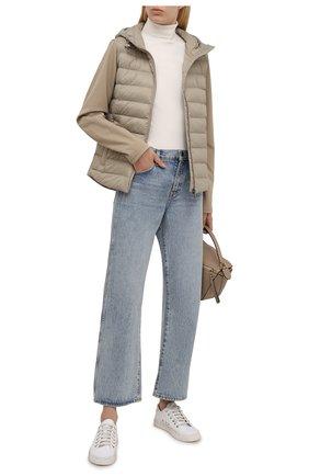 Женская куртка POLO RALPH LAUREN хаки цвета, арт. 211844794 | Фото 2 (Рукава: Длинные; Материал внешний: Синтетический материал; Длина (верхняя одежда): Короткие; Материал подклада: Синтетический материал; Кросс-КТ: Куртка; Стили: Кэжуэл)
