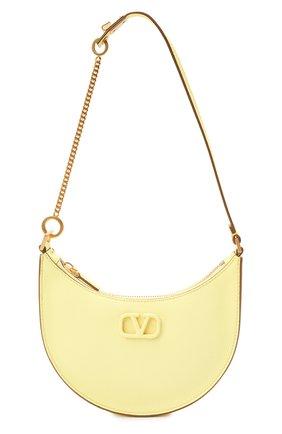 Женская сумка vsling mini VALENTINO желтого цвета, арт. WW2P0W19/RQR   Фото 1 (Материал: Натуральная кожа; Сумки-технические: Сумки через плечо; Размер: mini)