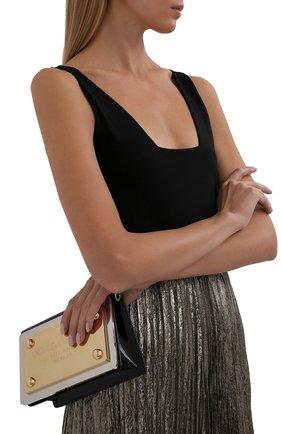 Женская сумка sicily DOLCE & GABBANA черного цвета, арт. BB7030/AQ272   Фото 2 (Размер: mini; Материал: Текстиль; Ремень/цепочка: На ремешке; Сумки-технические: Сумки через плечо)