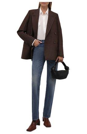 Женские кожаные ботильоны dionne MIISTA коричневого цвета, арт. MI_3447 | Фото 2 (Подошва: Плоская; Каблук высота: Средний; Материал внутренний: Натуральная кожа; Каблук тип: Устойчивый)