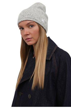 Женская шапка из шерсти и кашемира KENZO белого цвета, арт. FB68BW130KFC | Фото 2 (Материал: Шерсть)