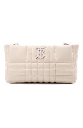 Женская сумка lola BURBERRY белого цвета, арт. 8046227 | Фото 1 (Ремень/цепочка: На ремешке; Материал: Натуральная кожа; Размер: small; Сумки-технические: Сумки через плечо)