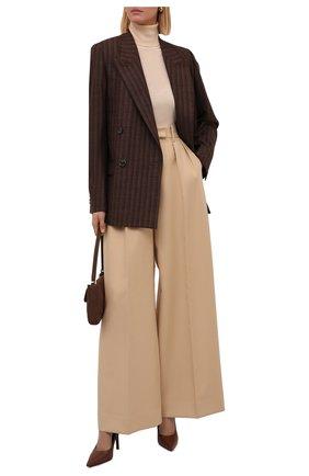 Женские кожаные туфли aubri 100 BURBERRY коричневого цвета, арт. 8042467 | Фото 2 (Подошва: Плоская; Каблук высота: Высокий; Материал внутренний: Натуральная кожа; Каблук тип: Шпилька)