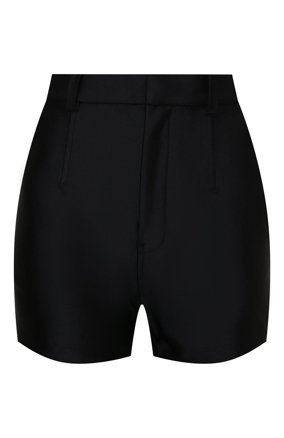 Женские шорты ALEXANDER WANG черного цвета, арт. 1CC3214379 | Фото 1 (Женское Кросс-КТ: Шорты-одежда; Длина Ж (юбки, платья, шорты): Мини; Материал внешний: Синтетический материал; Стили: Кэжуэл)