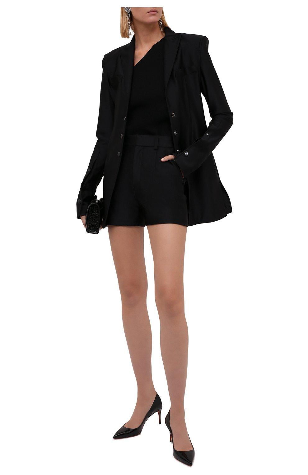 Женские шорты ALEXANDER WANG черного цвета, арт. 1CC3214379 | Фото 2 (Женское Кросс-КТ: Шорты-одежда; Длина Ж (юбки, платья, шорты): Мини; Материал внешний: Синтетический материал; Стили: Кэжуэл)