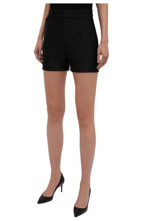 Женские шорты ALEXANDER WANG черного цвета, арт. 1CC3214379 | Фото 3 (Женское Кросс-КТ: Шорты-одежда; Длина Ж (юбки, платья, шорты): Мини; Материал внешний: Синтетический материал; Стили: Кэжуэл)