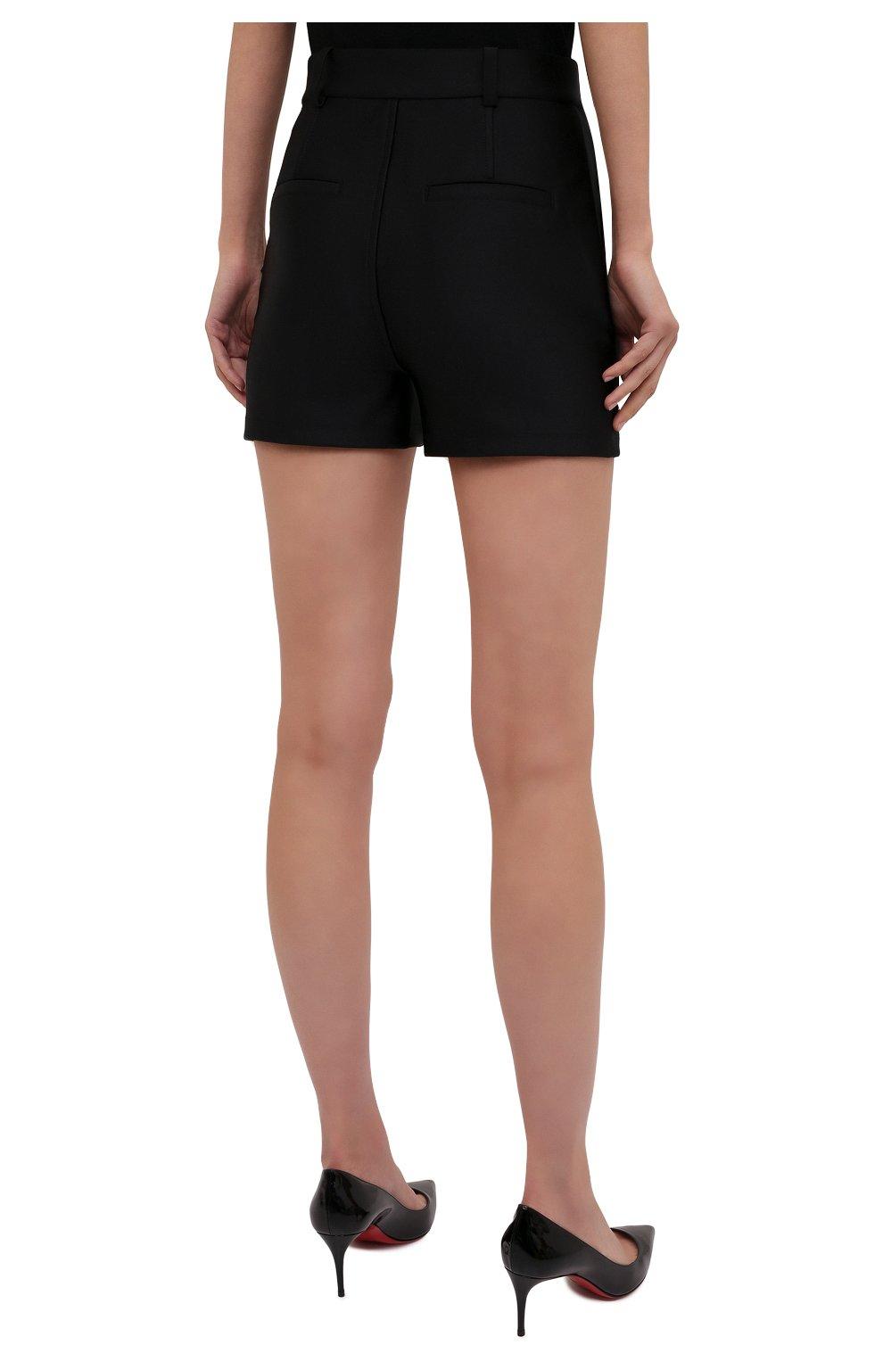 Женские шорты ALEXANDER WANG черного цвета, арт. 1CC3214379 | Фото 4 (Женское Кросс-КТ: Шорты-одежда; Длина Ж (юбки, платья, шорты): Мини; Материал внешний: Синтетический материал; Стили: Кэжуэл)