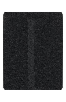 Мужской шарф-снуд из шерсти и вискозы TRANSIT темно-серого цвета, арт. SCAUTRP21566   Фото 1 (Материал: Шерсть; Кросс-КТ: шерсть)