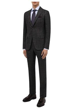 Мужские кожаные дерби W.GIBBS темно-коричневого цвета, арт. 7260008/2248 | Фото 2 (Материал внутренний: Натуральная кожа; Стили: Классический)