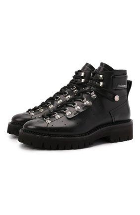 Мужские кожаные ботинки tank DSQUARED2 черного цвета, арт. ABM0081 01501226 | Фото 1 (Подошва: Плоская; Каблук высота: Высокий; Материал внутренний: Натуральная кожа; Мужское Кросс-КТ: Ботинки-обувь, Хайкеры-обувь)