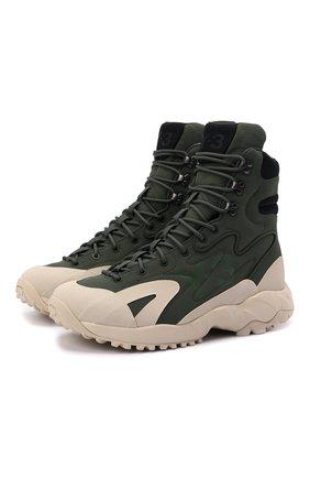 Мужские текстильные ботинки notoma Y-3 зеленого цвета, арт. GZ9164/M | Фото 1 (Подошва: Массивная; Материал внешний: Текстиль; Материал внутренний: Натуральная кожа; Мужское Кросс-КТ: Ботинки-обувь)