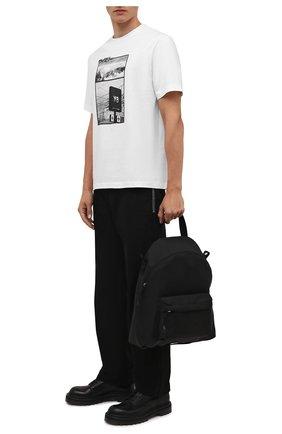 Мужская хлопковая футболка Y-3 белого цвета, арт. HB3347/M | Фото 2 (Рукава: Короткие; Длина (для топов): Стандартные; Материал внешний: Хлопок; Принт: С принтом; Стили: Гранж)